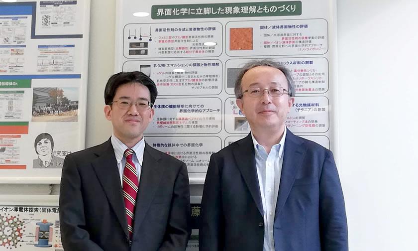 産業界の新商品開発につながる界面化学の基礎研究をサポート